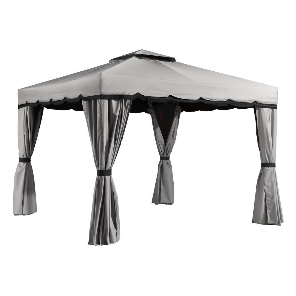 Sojag Roma #77 Gazebo With Polyester Roof in Grey - 10x12 Ft