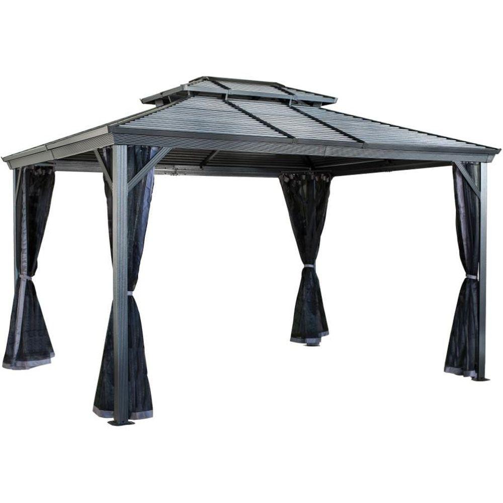 Sojag Ventura II #93D Gazebo With Steel Roof - 10x12 Ft