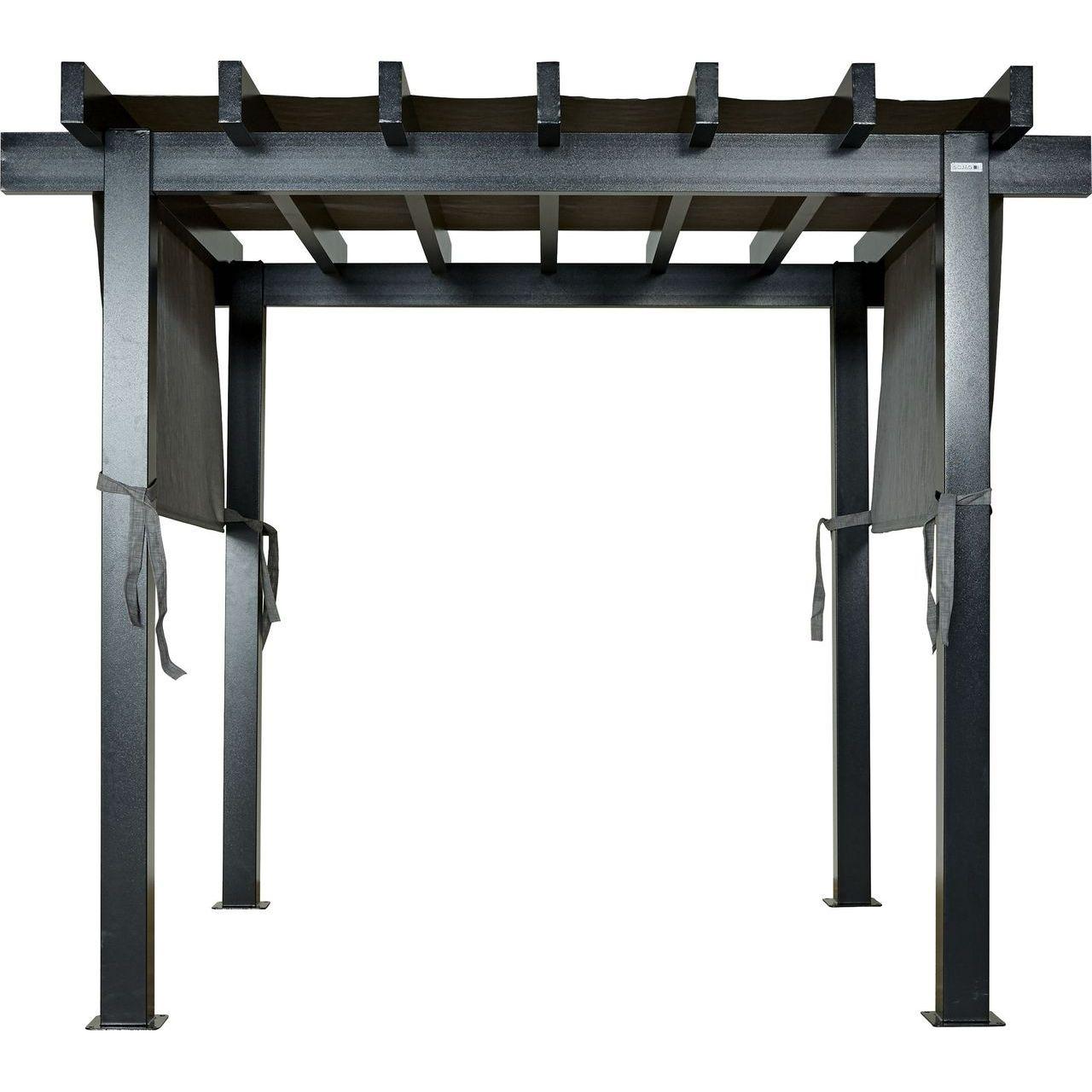 ShelterLogic 500-9166859 Sojag Yamba Pergola in Dark Grey - 10x10 ft