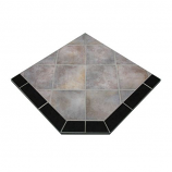 "NY Hearth Winter Shadows 54"" x 54"" Two-Toned Hearth Pad- Corner"