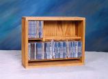 Solid Oak Dowel Cabinet for CD's Model 206-18