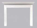 """The Newport 48"""" Fireplace Mantel MDF in White Paint"""