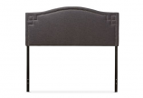 Modern- Contemporary Dark Grey Fabric Upholstered Full Size Headboard