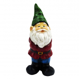 Alpine ZEN870 Bearded Garden Gnome Statue with Green Hat