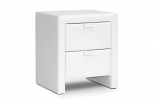 Frey White Upholstered Modern Nightstand