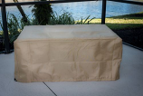 Tan Rectangular Cover for BRK-1224 Fire Pit Table