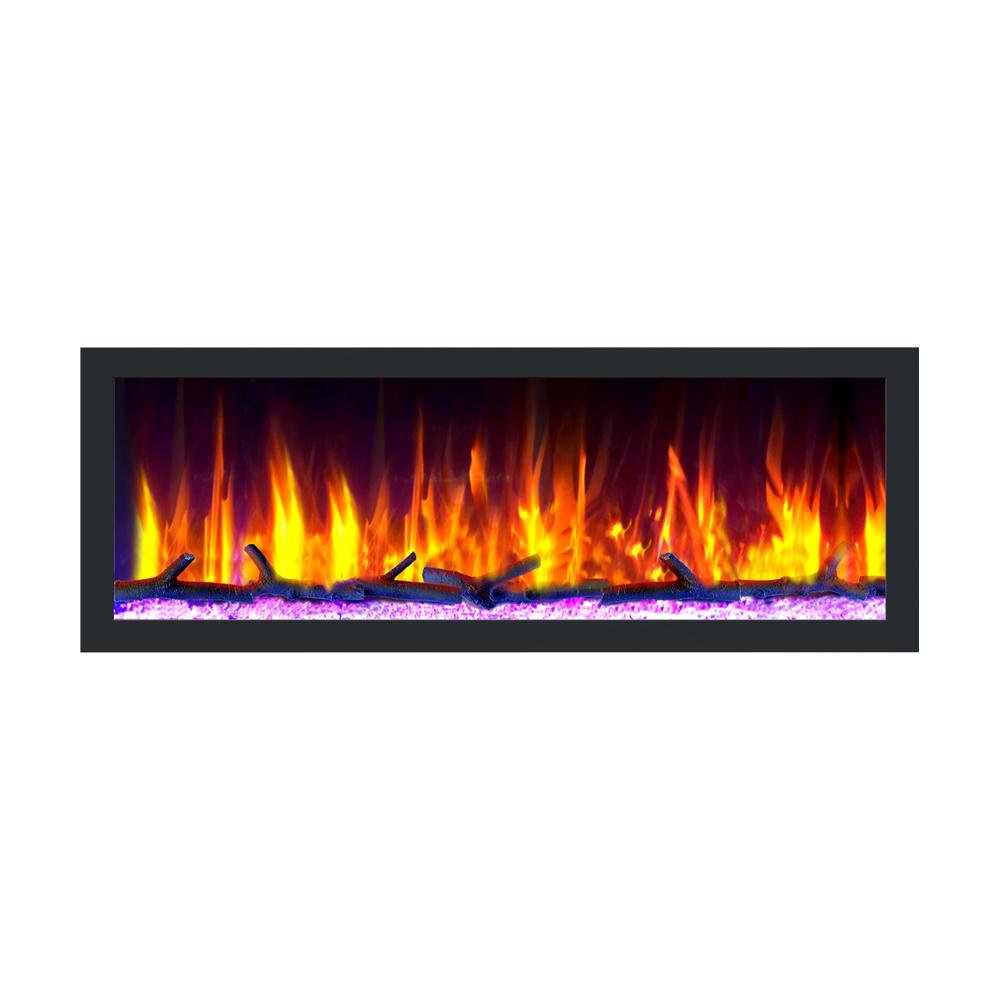 "Dynasty Cascade 52"" Smart Linear Electric Fireplace"