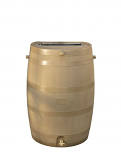 RTS Brown Rain Barrel w/ Brass Spigot