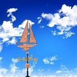 Copper Sailboat Weathervane - Polished
