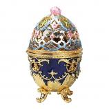 Romanov Style Hummingbird Enameled Egg