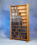 "The Wood Shed 1002-3 ""Monster"" CD Cabinet - Unfinished"