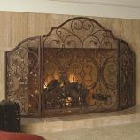 Provincial Triple Panel Fireplace Screen
