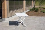 Vivere BRAT-WH Brunch Aluminum Folding Table - White