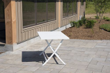 Vivere BRAT-WH Brunch Aluminum Folding Table - White