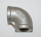HPC 0.5 Inch Stainless Steel Female to Female Elbow