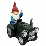 Alpine WQA1378SLR-GN Solar Green Tractor Riding Gnome with LED