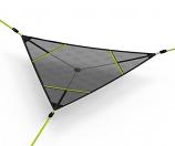 Vivere LEVI-01 Levitat Aerial Mat- Black with Neon Green straps