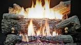 """Buck Stove GLEV100O-NG 30"""" Ember Vision Log set in Oak - Natural Gas"""
