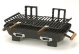 Hibachi Charcoal Grill with Cast Iron Grill Grids by Marsh Allen