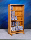 Solid Oak Dowel Cabinet for CD's Model 506-18