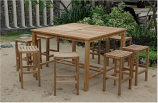 Anderson Teak Set-120 Windsor Montego 9-Piece Square Bar Set