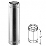 "Galvanized 6"" Chimney Pipe - 5"" x 8"""