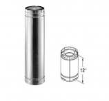 "Galvanized 12"" Chimney Pipe - 5"" x 8"""