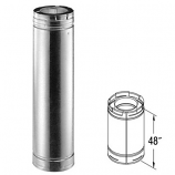 "Galvanized 48"" Chimney Pipe - 5"" x 8"""