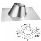 "Galvanized Steep 7/12 - 12/12 Roof Flashing - 5"" x 8"""