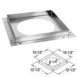 "Galvanized Ceiling Firestop - 5"" x 8"""