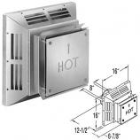 """Aluminum Square Horizontal Termination Cap - 5"""" x 8"""""""
