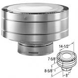 """Galvanized Aluminum Low-Profile Termination Cap - 5"""" x 8"""""""