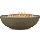 Real Flame 590LP-GLG Riverside Oval Propane Fire Bowl - Glacier Gray
