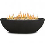 Real Flame 590LP-SHL Riverside Oval Propane Fire Bowl - Shale