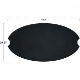 Real Flame 591-BLK Riverside Oval Fire Bowl Lid - Black