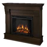 Chateau Electric Dark Walnut Fireplace