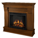 Chateau Electric Espresso Fireplace