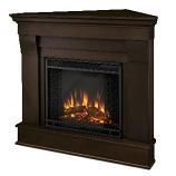 Chateau Corner Electric Dark Walnut Fireplace