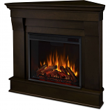 Real Flame 5950E-DW Chateau Corner Electric Fireplace - Dark Walnut