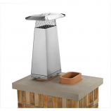 """Gelco 8"""" x 13"""" Stainless Steel Flue Stretcher Adds 2' Height"""