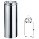 """Stainless Steel Chimney Pipe - 5"""" x 6"""""""