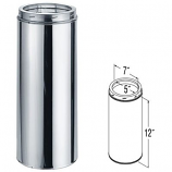 """Stainless Steel Chimney Pipe - 5"""" x 12"""""""