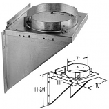 "Adjustable Galvanized Tee Support Bracket - 5"""