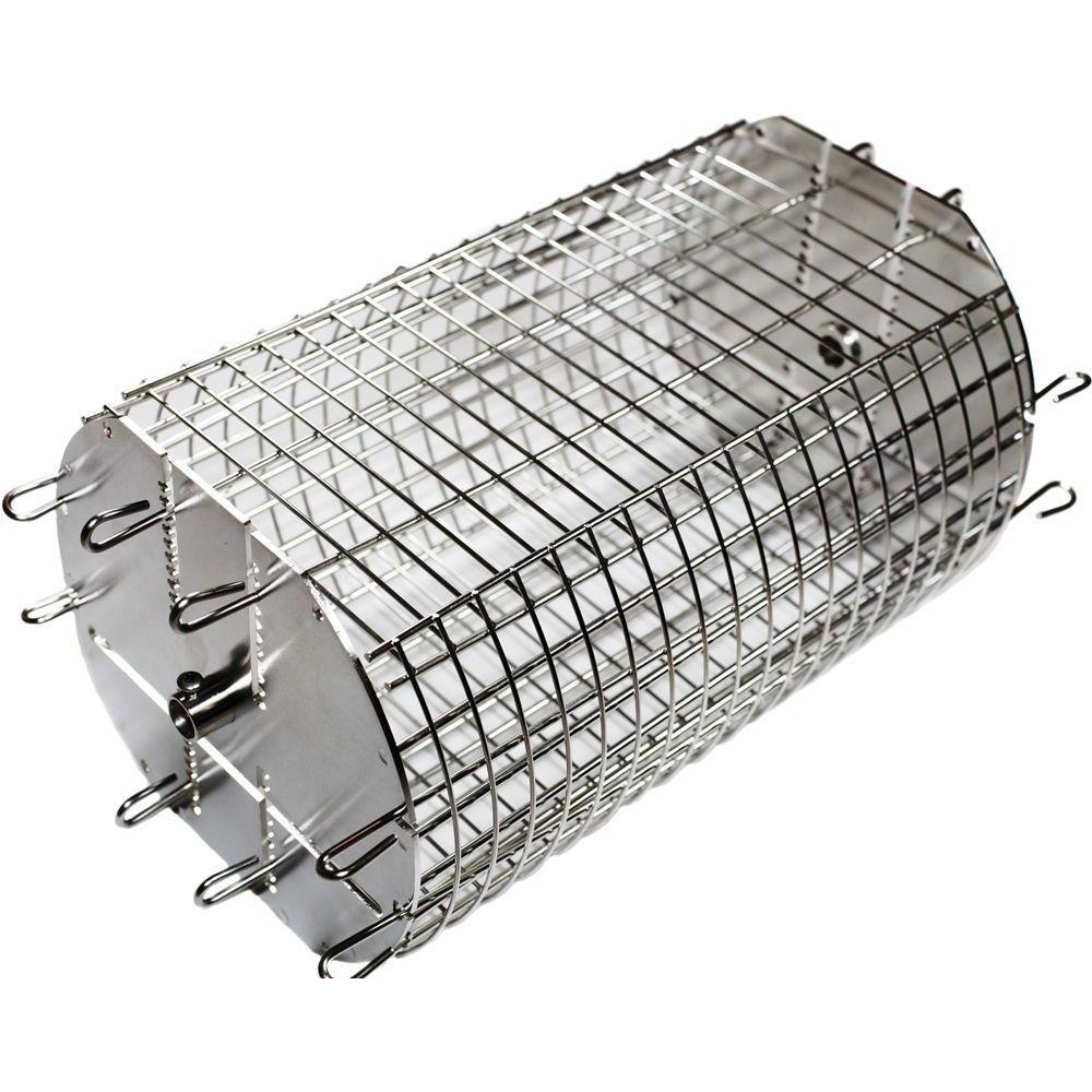 "OneGrill 5PB815 Performer Universal Rotisserie Basket - 1/2"" Hexagon 3/8"" Square"