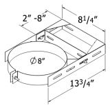 Shasta Vent 6A-WB Adjustable Wall Bracket