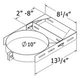 Shasta Vent 8A-WB Adjustable Wall Bracket