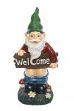 "Alpine ZEN242 Mooning ""Welcome"" Gnome with Pants Down Statue"