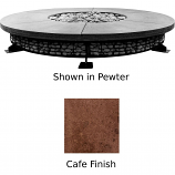 Prism Hardscapes Fuego 8' Concrete Gas Fire Pit in Cafe - NG