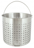 82-Qt.Stainless Perforated Baskets with helper handle
