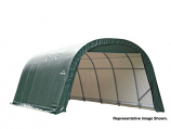 12x24x8 Round Style Shelter with Green Cover